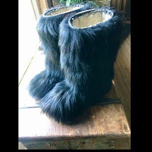 Oscar Sport Saba Black Goat Apreś Ski boots
